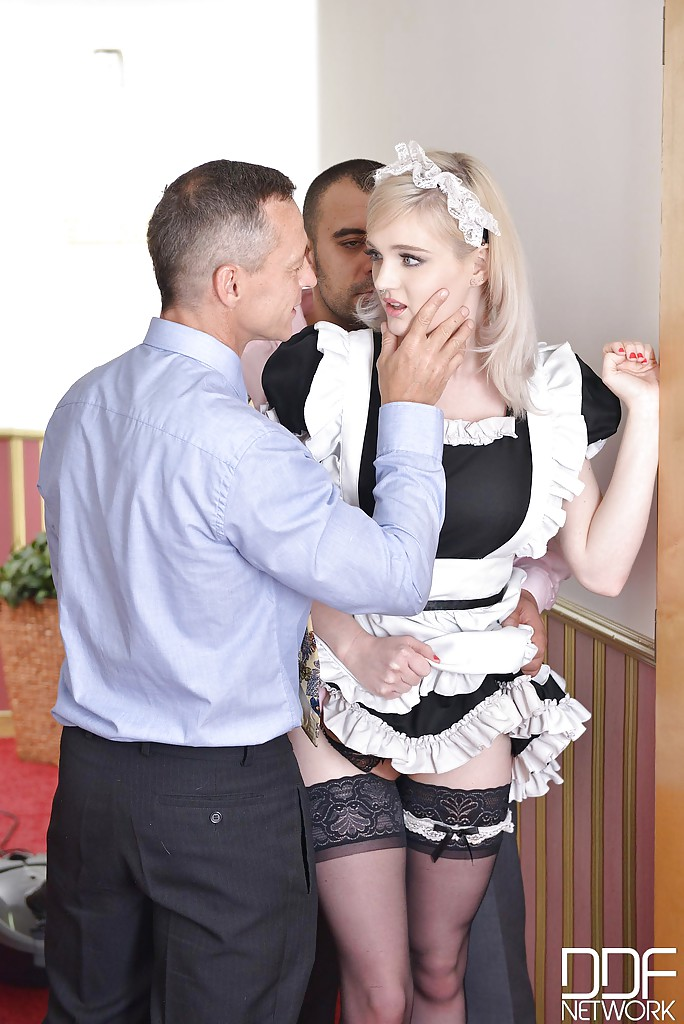 hot trio in uniform sucking
