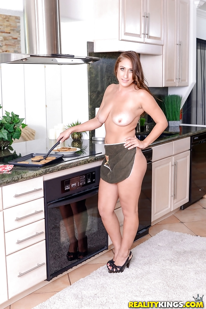 Wife in back yard naked