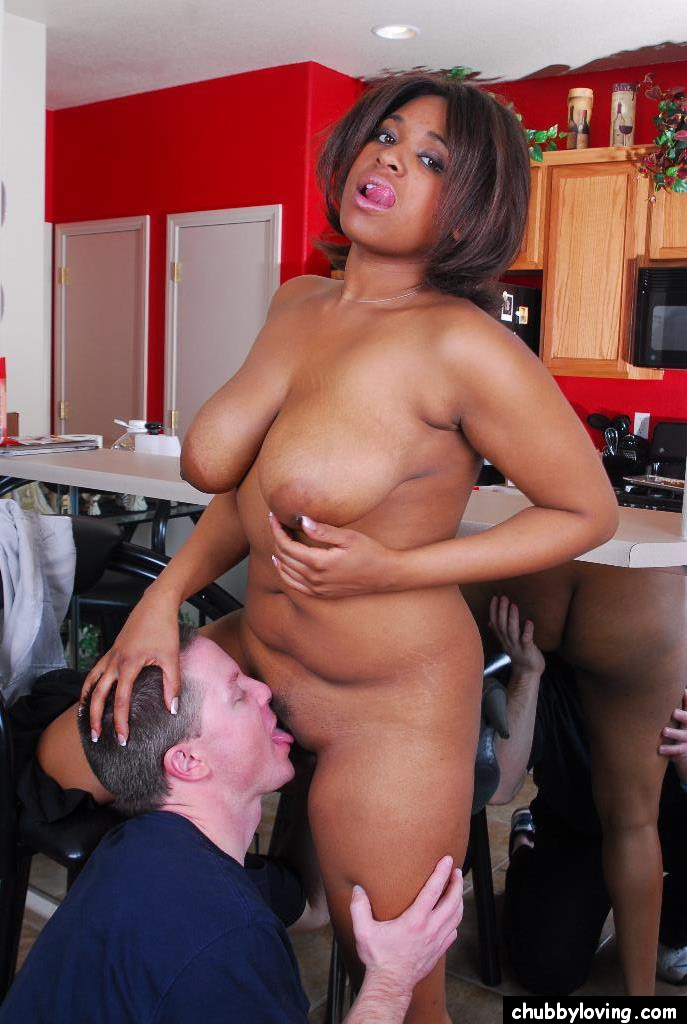 Ebony Sucks Huge White Dick