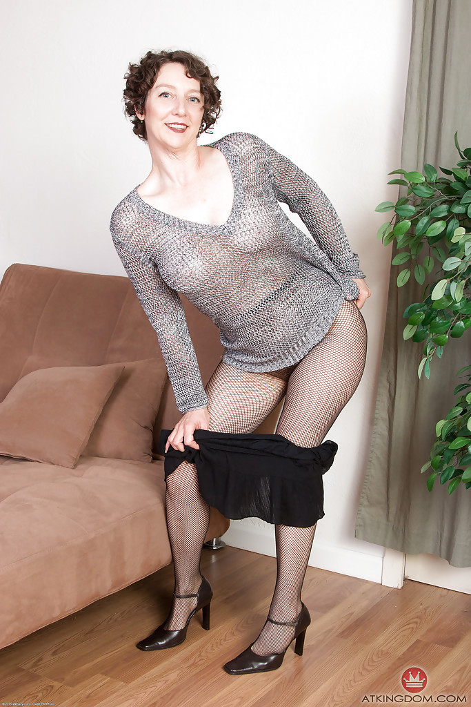 In older pantyhose women opaque