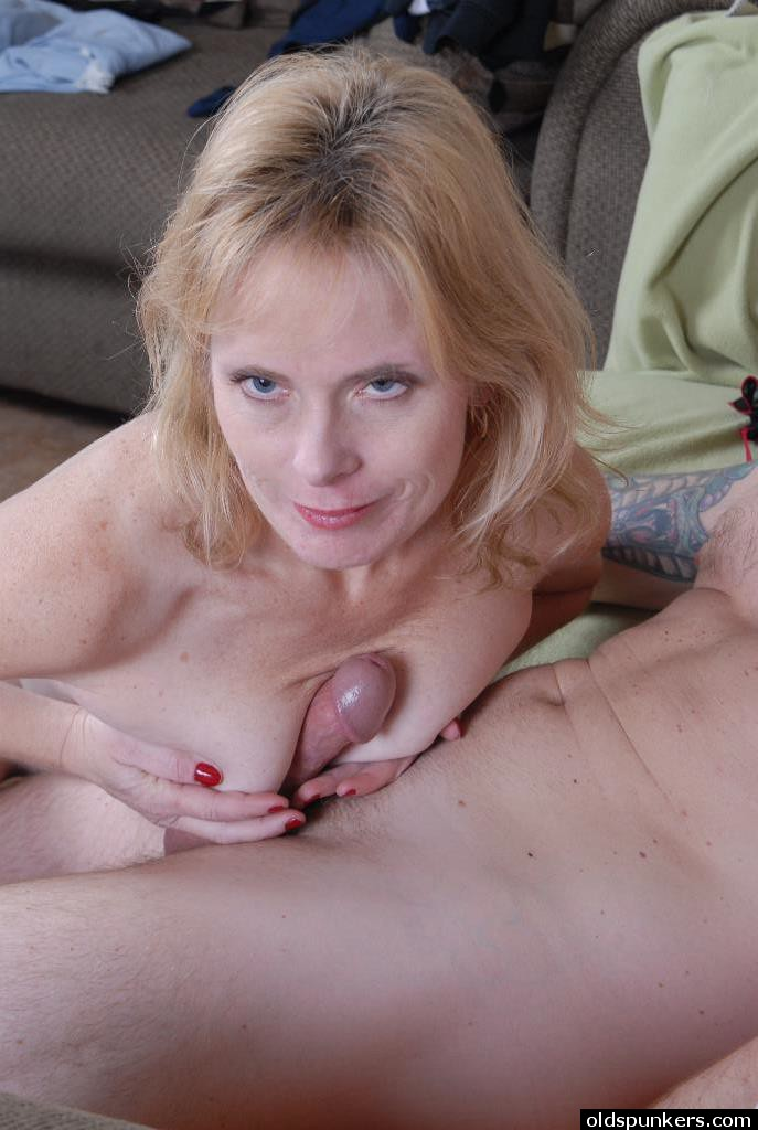 Blonde mature hardcore