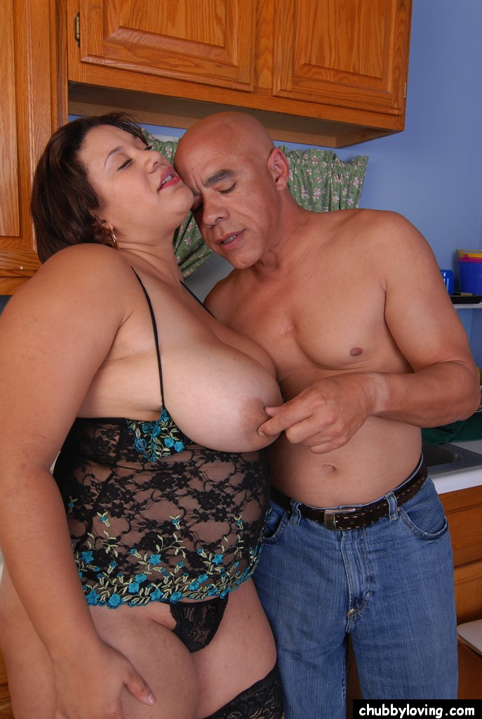 huge boobs cooking
