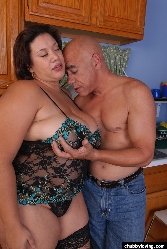 ebony bbw super star xxx big tits - ... Ebony BBW Monet tit smothering man in kitchen with huge boobs ...