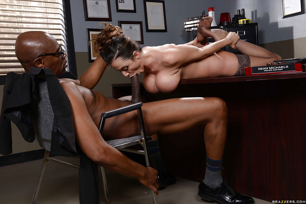 Interracial office sex