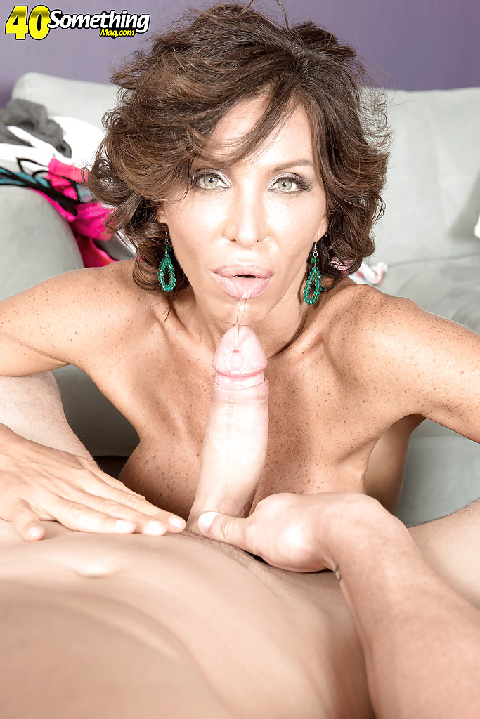 busty over milf lyla lali licking ball sac while giving