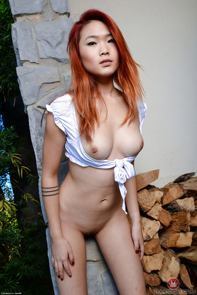 Big tited asian red head naked 7