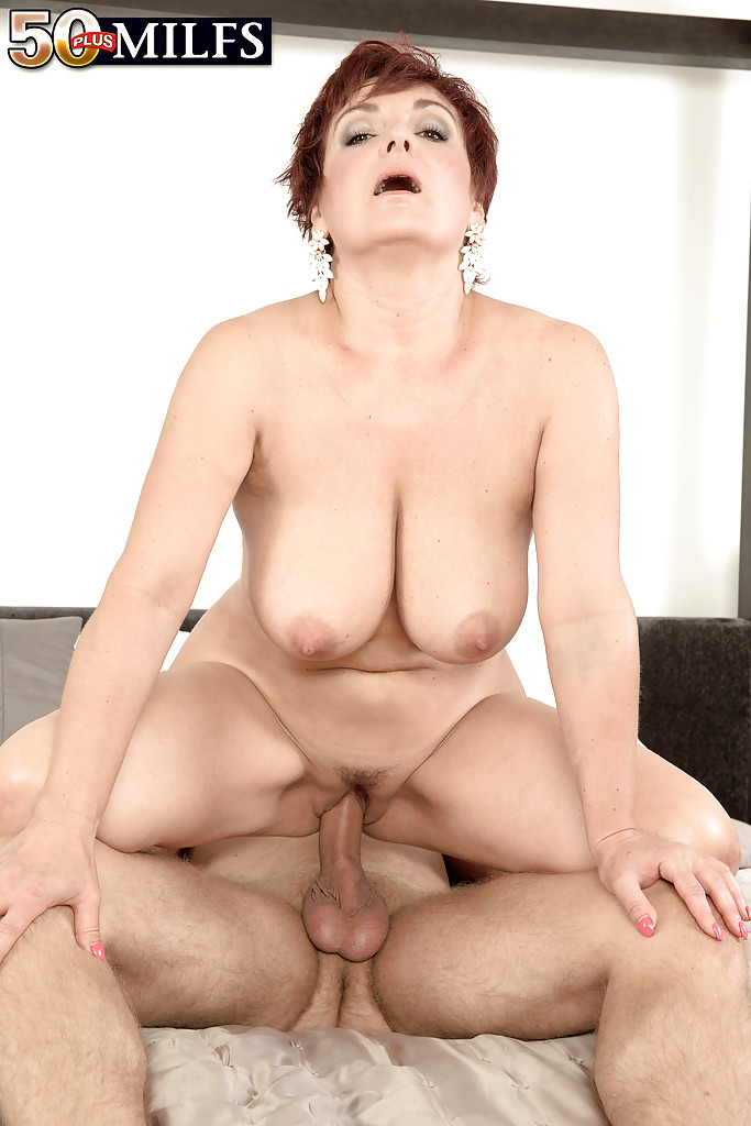 Amateur over 60 redhead likes big dick