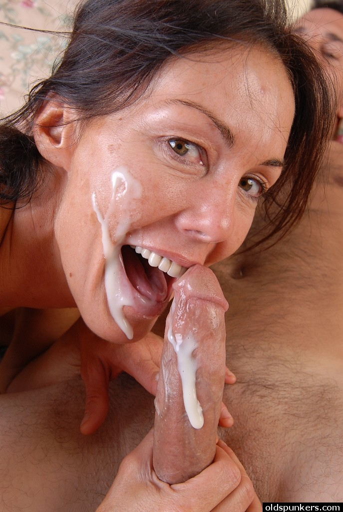 A huge facial and dried cum on shoes in this update 8