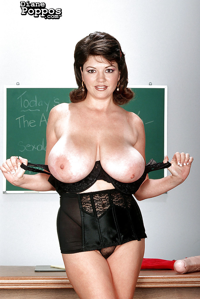 Big natural tits teacher