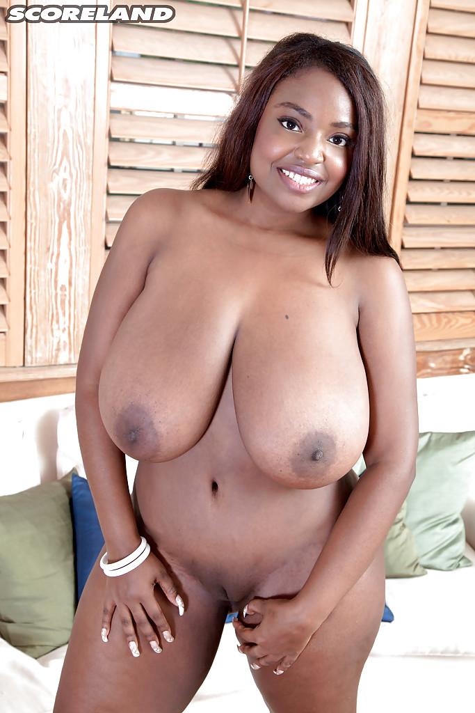 black milf solo - ... Chunky black solo girl Olivia Jackson flaunting big saggy MILF tits and  ass