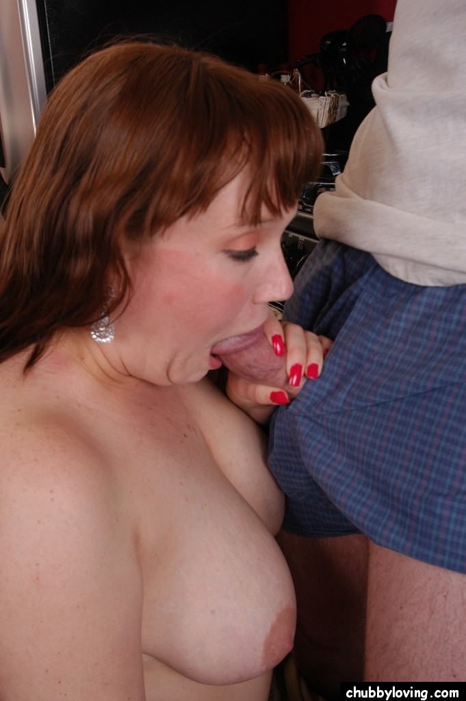 Chubby loving blowjob