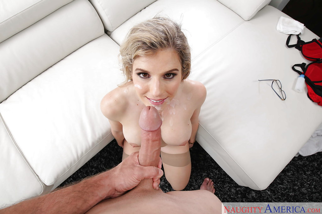 ... Blonde MILF housewife Cory Chase taking POV cumshot from big cock in  hose ...