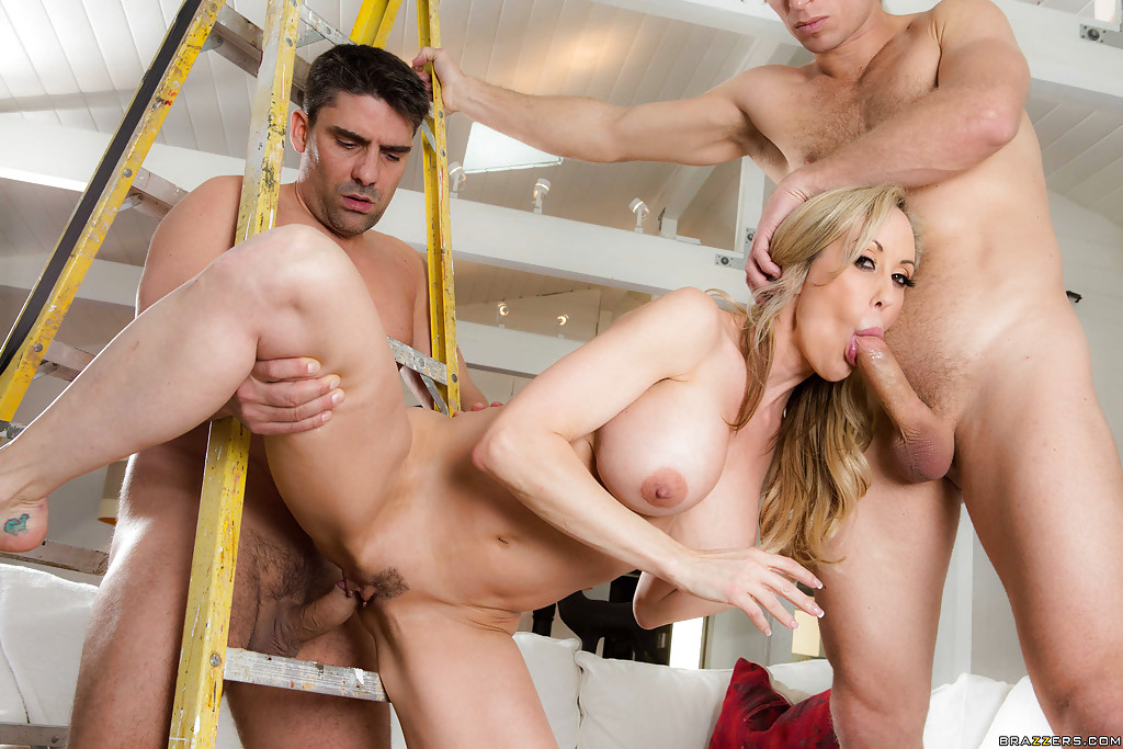 Brandi love threesome