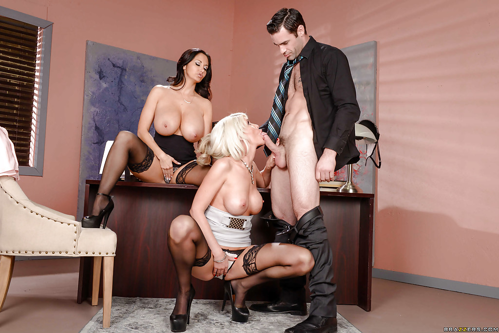 Celeste office threesome images