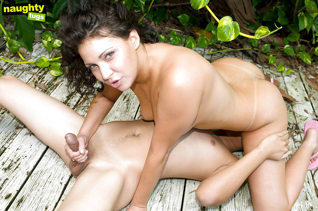 handjob clips outdoors