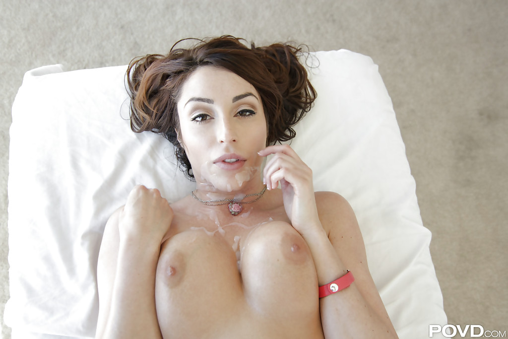 Christiana Cinn receives hardcore Gonzo themed oiled twat suck and fuck