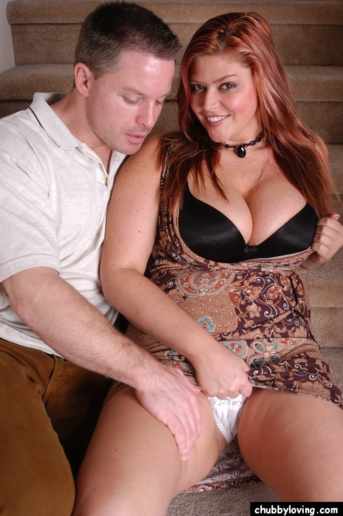 Bbw Cowgirl Position Porn - ... Redhead BBW with tattoos and big boobs rides cock reverse cowgirl style  ...