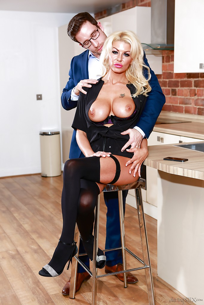 Blonde gilf fucked fitchen tits