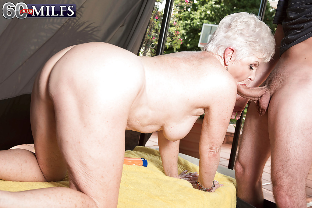 Granny takes huge cumshot