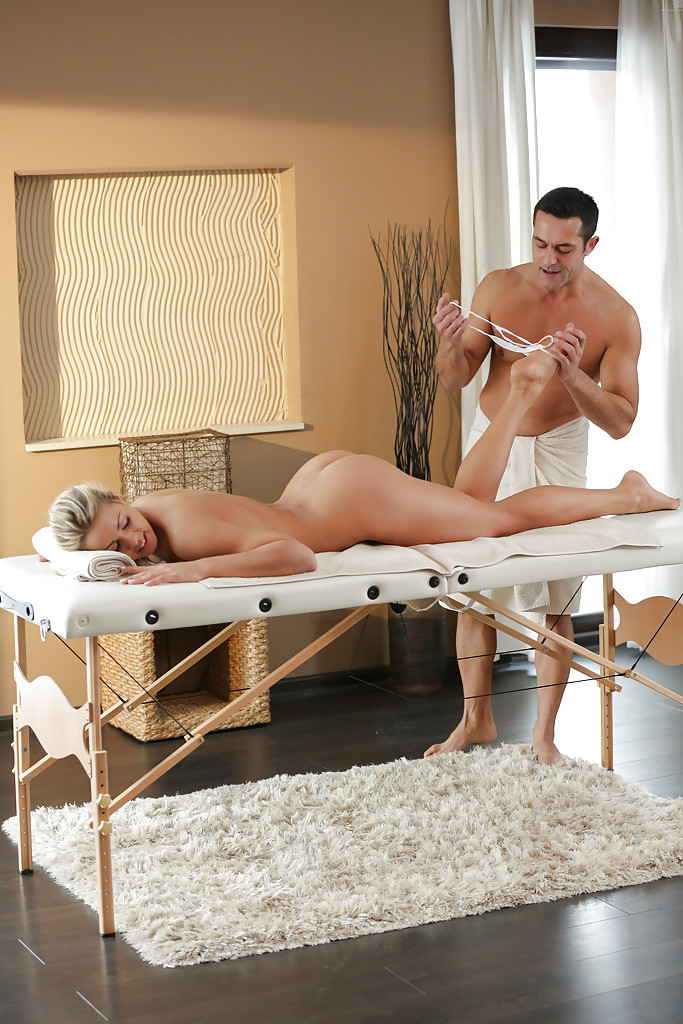 erotic massage anal fingering - ... Christen Courtney enjoys oil massage before ass licking and anal  fingering ...