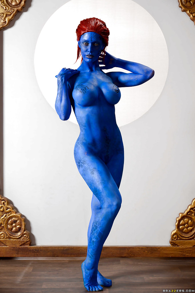 completely naked body paint mystique vagina