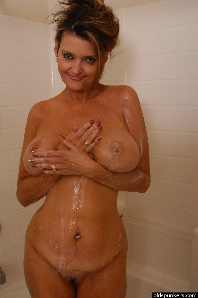 mature girls nude in the shower