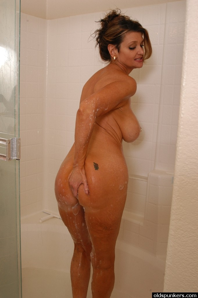 Naked in shower pics