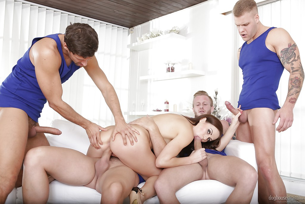 Cum in ass gangbang