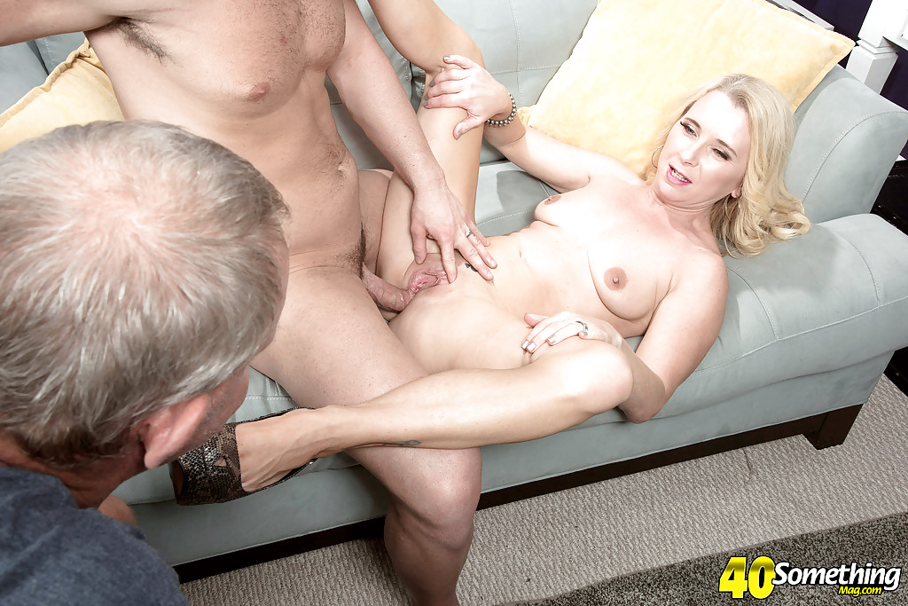 Mature blonde milf takes a huge cock