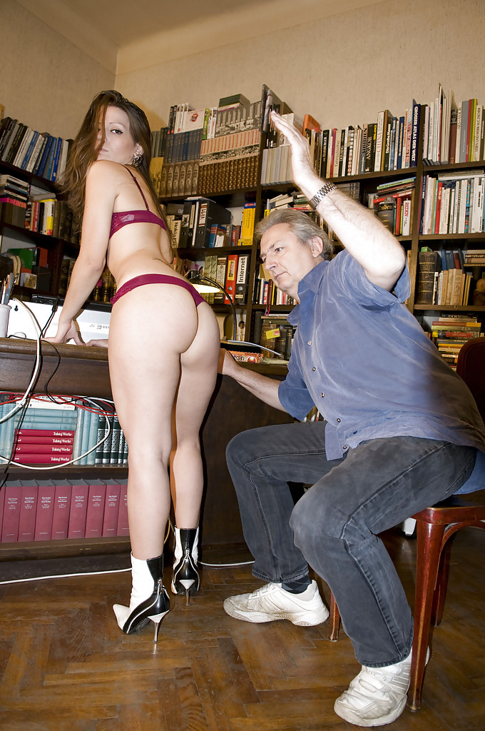 from Ignacio bent over old naked man