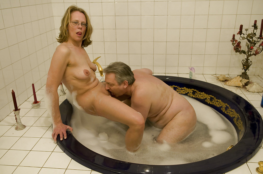 Frisky milf fucks her stepson in the hot tub picture