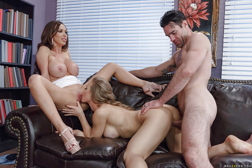 Threesome sex wife girlfriend