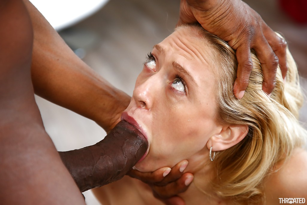 Mature deepthroating black cock, free interracial creampie sex