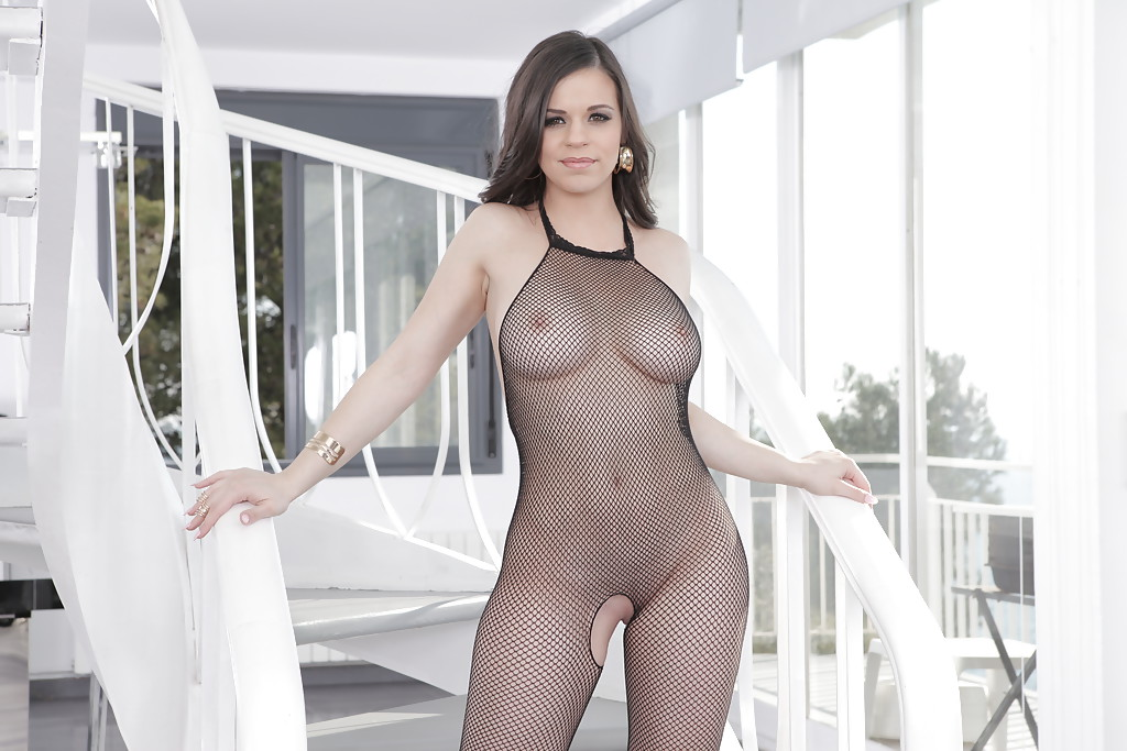 Sexy big busted women bodystocking