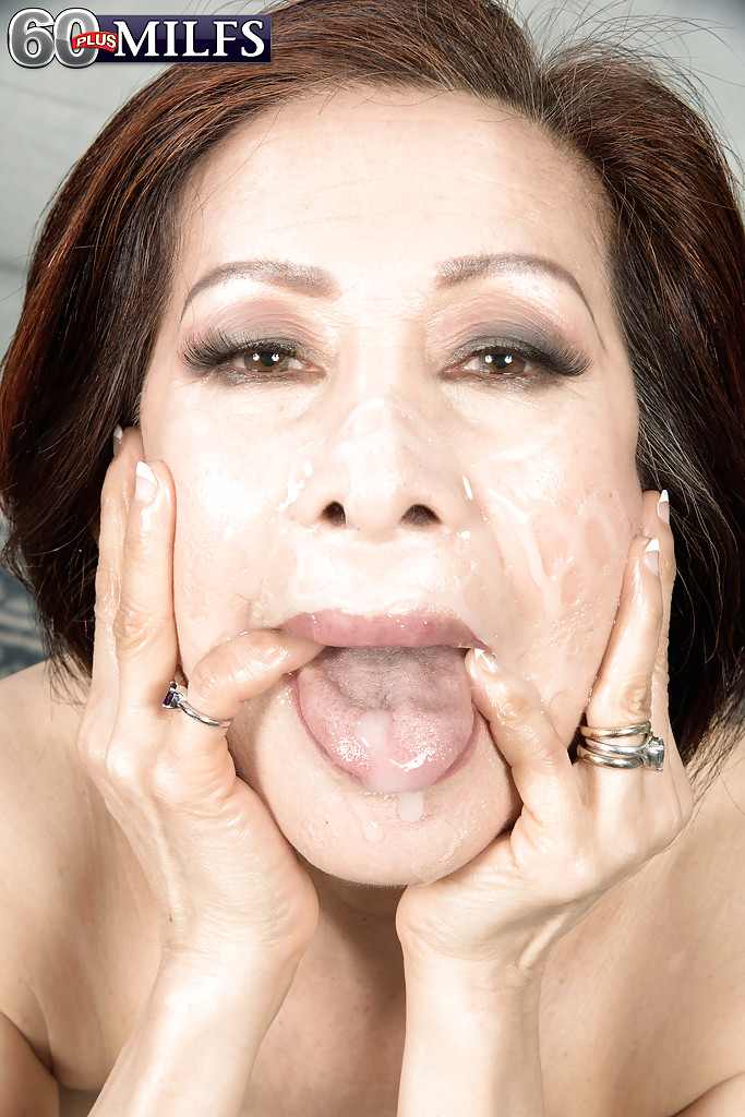 Asian granny cumshots