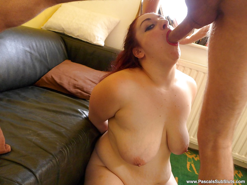 bbw interracial face fuck - ... Amateur BBW with big saggy tits receiving hardcore face fucking on  knees ...