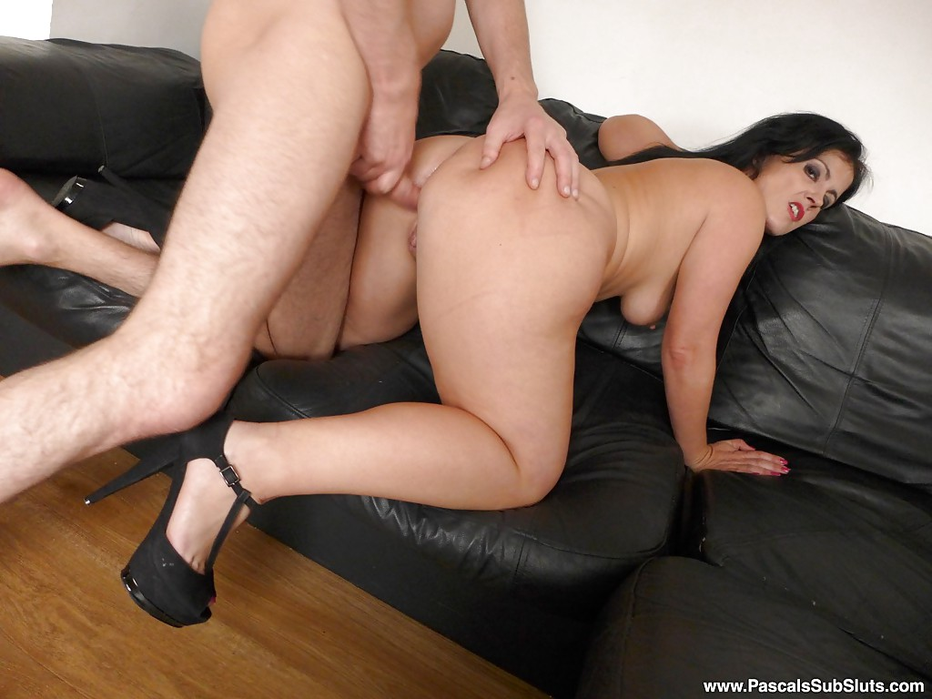 Blowjob with dildo in ass