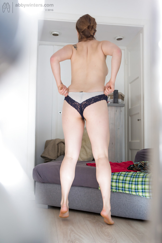 Chubby amateur mom Amanda B showing off fat ass while getting dressed