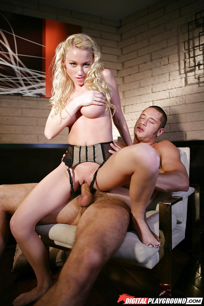 Busty blonde Madison Scott taking hardcore cowgirl fucking from big cock