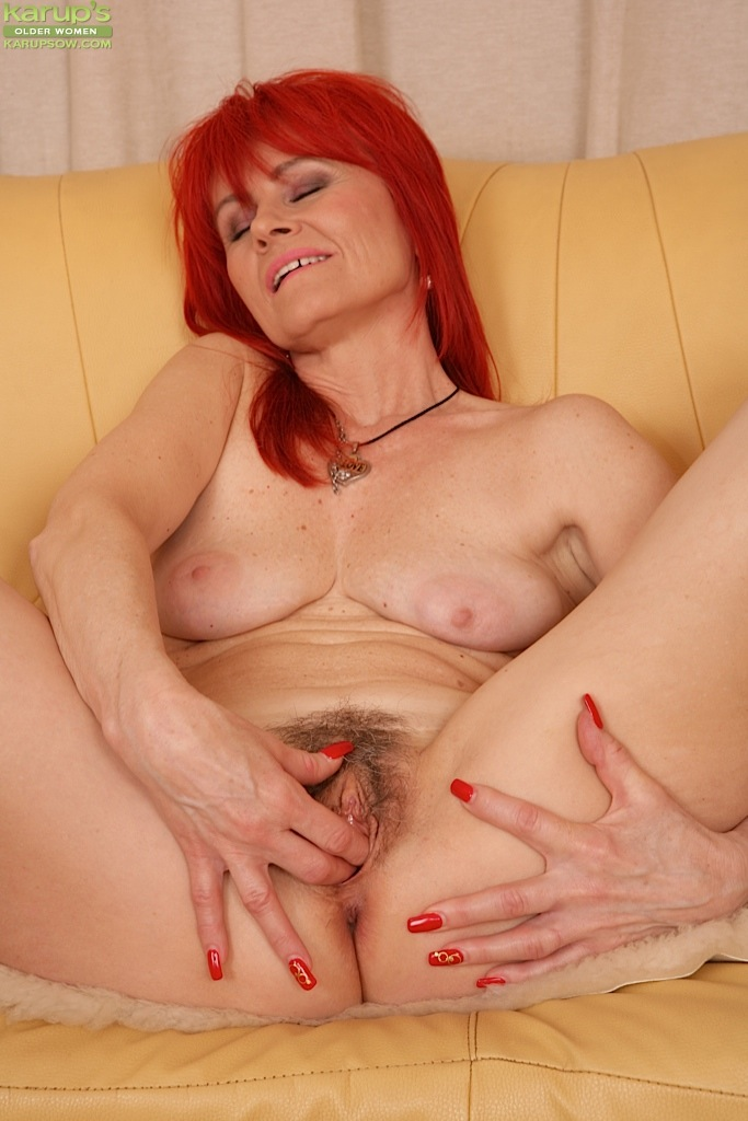 redhead panty covered pussy