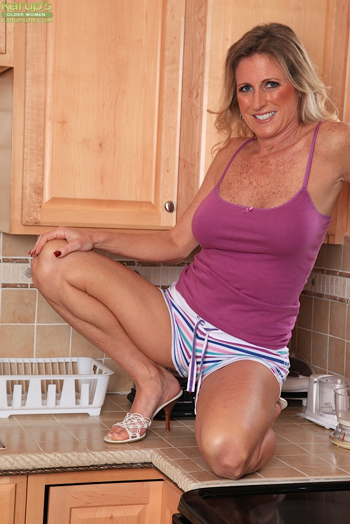 Are mature women kitchen something is
