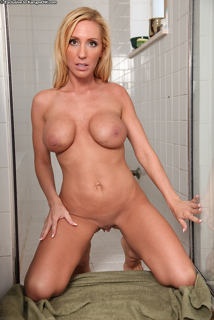 mom nude taking shower