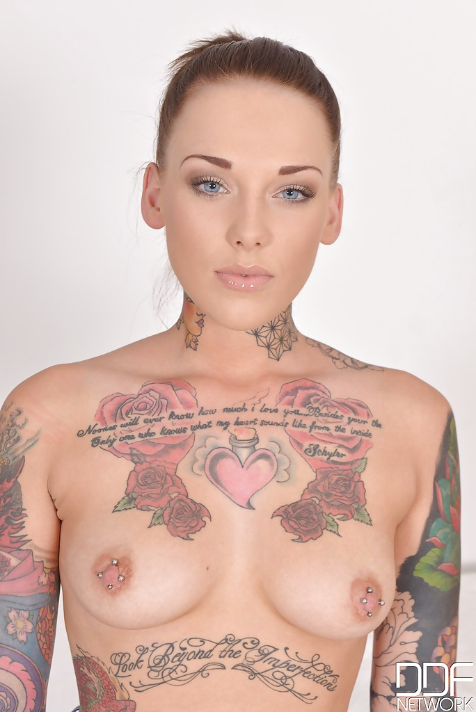 Lexi Adult Tattooed And Pierced Naked Woman