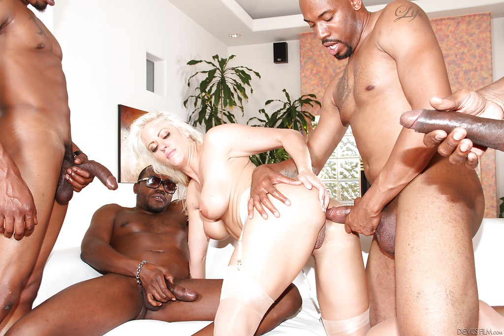Gangbang milf getting it in all holes