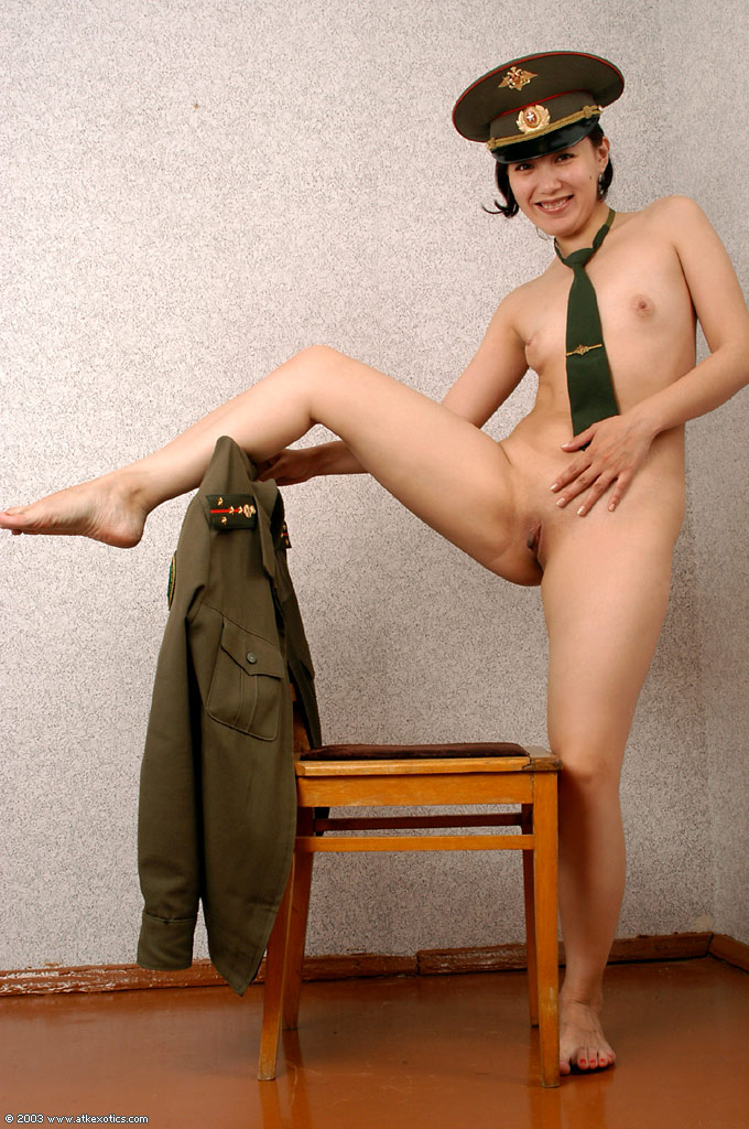 All Naked women in uniform military