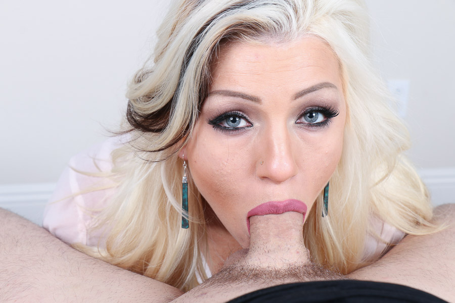 Three facials for the blonde milf