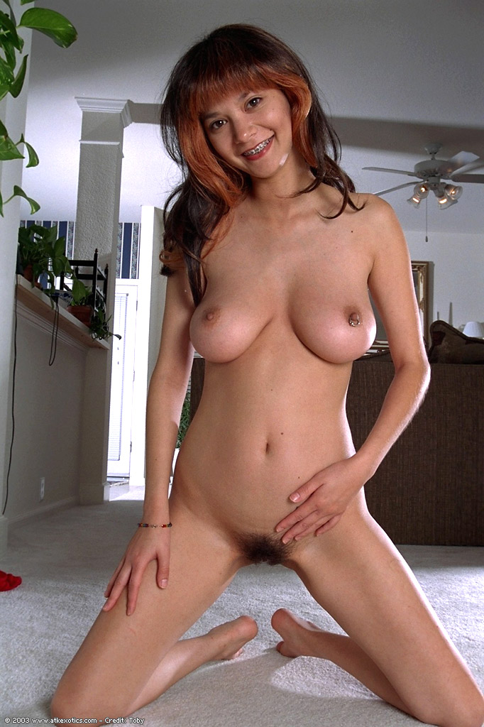 Asian Amateur Charlotte Displays Hairy Armpits And Big Natural Tits In Nude