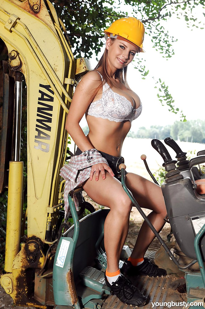 Construction worker tits and ass