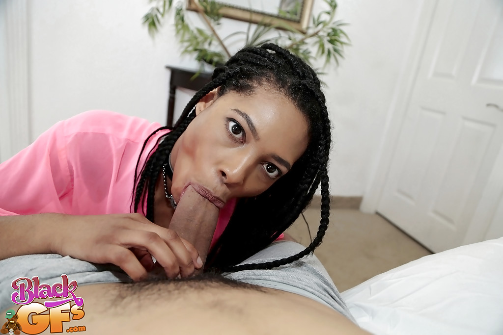 ebony in mask perfect cock swallowing