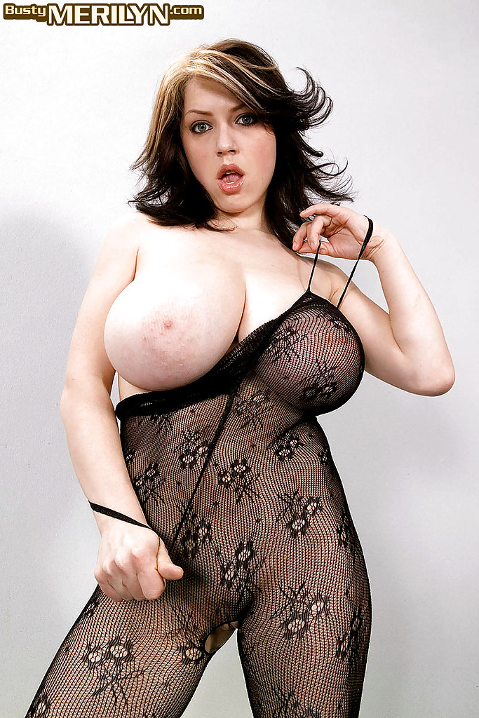 Huge tits in bodystocking maybe, were